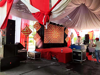 VR10&S15 Speaker Sound System Provide Unforgotten Sound for Wedding Ceremony